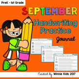 September Handwriting Practice Journal