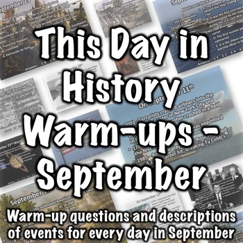 History Warmup - Bell Ringer Questions for September