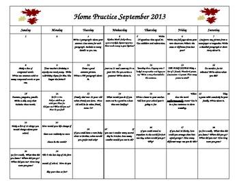 September Home Practice
