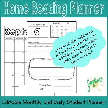 September Home Reading Planner, September - June