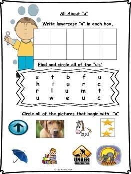 September Homework Packet for Kindergarten