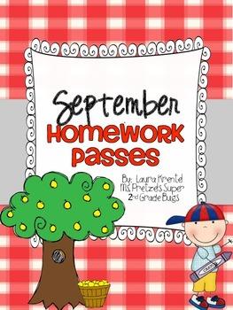 September Homework Passes