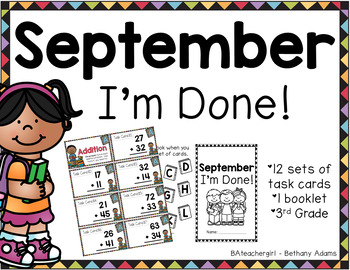 September I'm Done ~*Third Grade*~