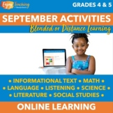 Fall Chromebook Activities - September Independent Learnin