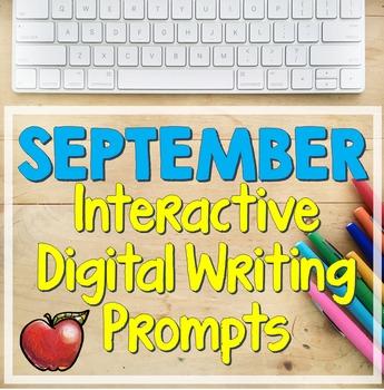 September Interactive Bell-Ringer Writing Prompts (Digital