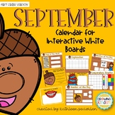 September Interactive Calendar Flipchart for 1st Grade