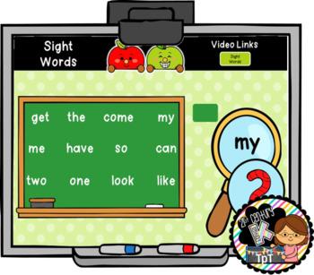 September Interactive Literacy for PreK, Kinder, 1st  -Works on ANY White Board!