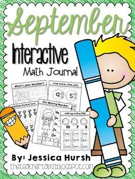 September Math Journal -Interactive