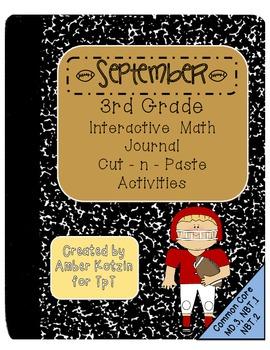 3rd Grade September Interactive Math Journal (Common Core Aligned)