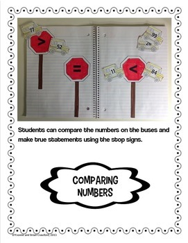 Back to School Interactive Math Notebook First Grade Common Core