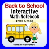 Back to School Interactive Math Notebook Third Grade Common Core
