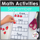 September Interactive Math Notebook Kindergarten