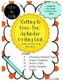 September Interactive Notebook Writing Unit