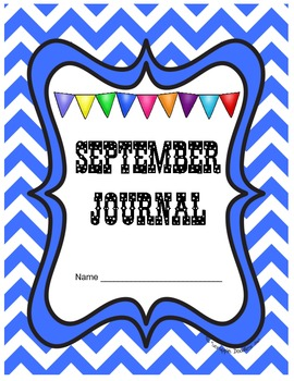 September Journal Prompts Printable Notebook Common Core W