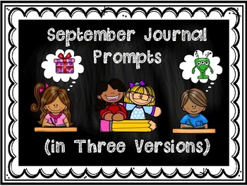 September Journal Prompts in Three Versions