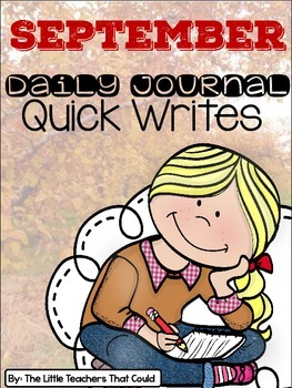 September Journal Quick Writes