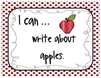 September Journal Topics for Kindergarten Level Guided Writing