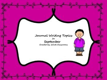 September Journal Writing Booklet