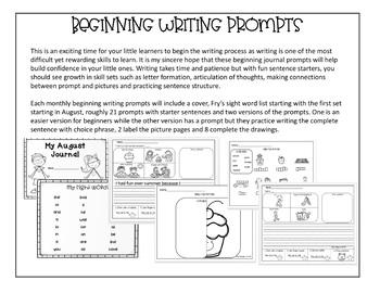 September Journal Writing Prompt for Beginning Writers