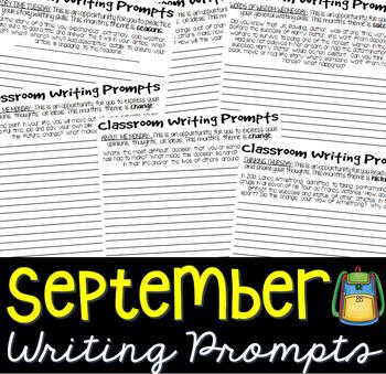 Writing Prompts SEPTEMBER (Bell Ringer, Morning Work, Daily Writing)