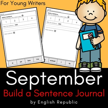 September Build a Sentence Journal for Young Writers
