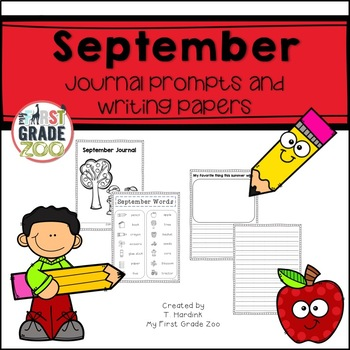 September Journals - Prompts and Writing Papers
