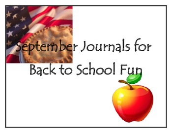 September Journals for Back to School Fun