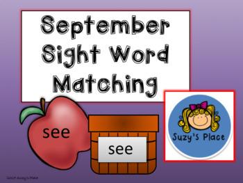 Back to school/ September Journeys Sight Word Center