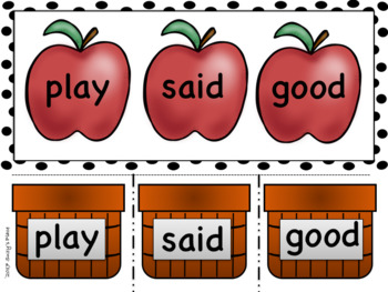 Back to school/ September Sight Word Center