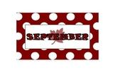 September - June Calendar Labels - Themed