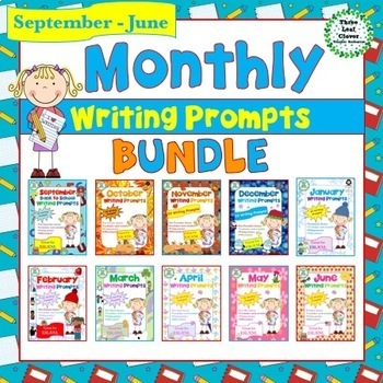 September - June Monthly Writing Prompts BUNDLE