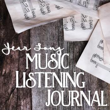 Year Long Music Listening Journal Bundle
