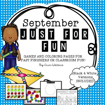 September: Just for Fun! {Class, Group, & Partner Activities}