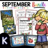 September KINDERGARTEN BUNDLE - Math Reading Writing Boom