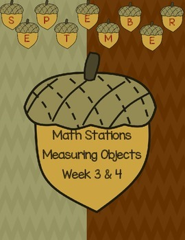 K.MD.1 Measurement Math Station with Bears, Cubes, and Apples Oh My!
