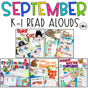 September K-1 Back to School Bundle: Interactive Lesson Plans and Activities