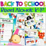 September K-1 Back to School Interactive Read-Aloud Lesson Plans