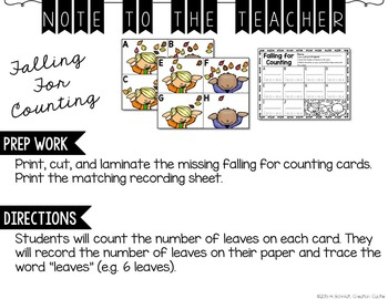 September Kindergarten Centers - Math