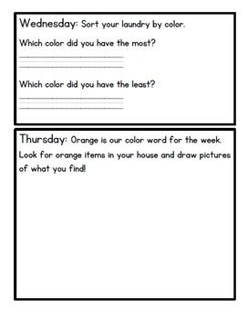 September Kindergarten Homework: Editable--Math, Reading, Writing, etc