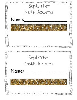 September Kindergarten Math Journal