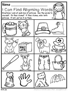 September Kindergarten Math and Literacy Packet NO PREP Common Core Aligned