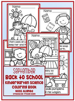 September Kindergarten NGSS Aligned NO PREP Science Coloring Book