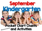 September Kindergarten Pocket Chart Chants and Activities
