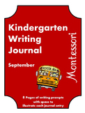 September Kindergarten Writing Journal