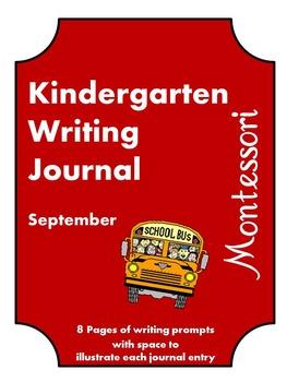 September Kindergarten Writing Journal