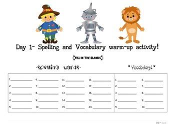 September Language Activities