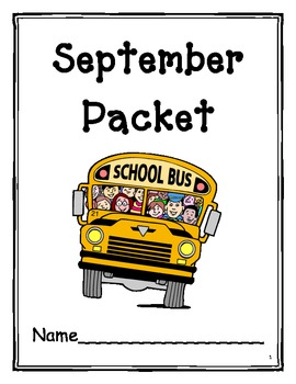September Language Arts Packet