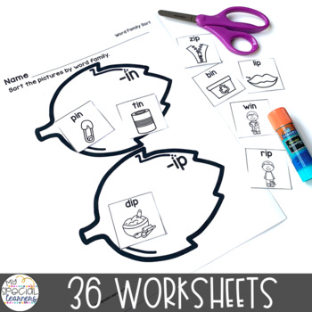 September Language Arts Printables for Special Education