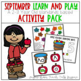 September Learn and Play Toddler Activities