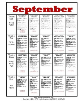 September Lesson Plans [Four 5-day Units] Series 3